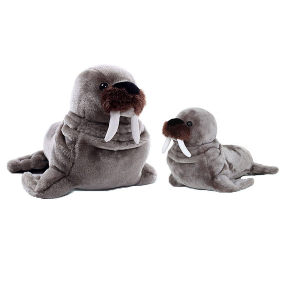 Walrus Stuffed Animal Simulation Plush Toys Cute Pillow Jouet Peluche Birthday Gift Baby Knuffel Toys For Children Girls 50G0462 38cm plush whales toys with soft pp cotton creative stuffed animal dolls cute whales toys fish birthday gift for children