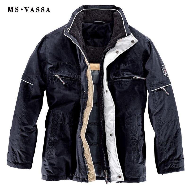 MS VASSA Hommes Vestes 2018 Nouveau Parkas Automne Manteaux D'hiver grand col en polaire plus sur la taille 6XL 11XL Rembourrage mâle survêtement