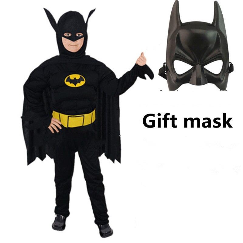 Kids Christmas Muscle Hero Costume Captain America Costume Spiderman Batman Superman Avengers Costume Cosplay Boy Girl