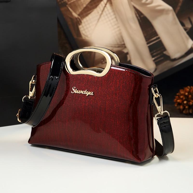 ICEV Organizer Patent Leather Luxury Handbags Women Bags Designer High  Quality Crossbody Clutch Messenger Bags Famous cf7d16e5d18ce