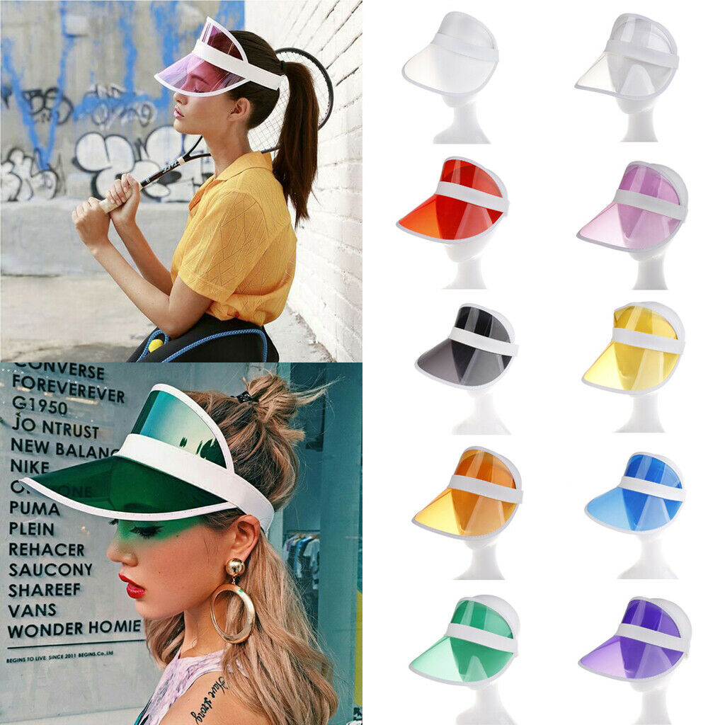 Brand New 2019 1Pc Summer Casual Men Women Fashion Neon Hat Sun Visor Golf Sport Tennis Headband Stag Poker Party Cap 10 Colors