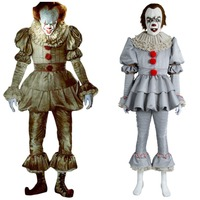 Stephen King's It Pennywise Cosplay Costume Adult Men Women Pennywise The Clown Costume Suit Fancy Halloween Terror Costume