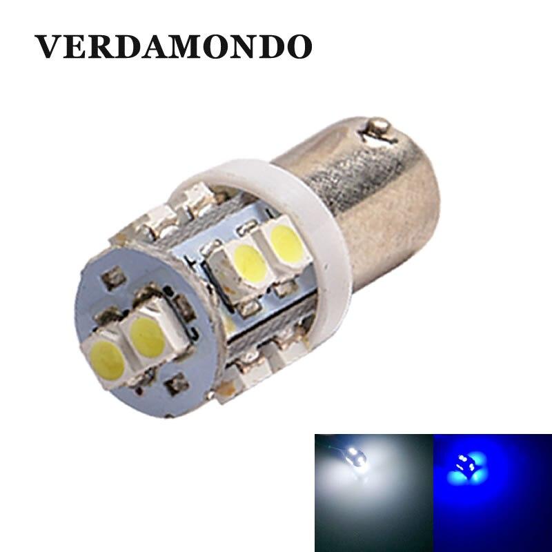 BA9S T4W 10 SMD 1210 LED Car Lights Dome Festoon Lamp Dashboard Reading Map Side Marker Bulbs For DC 12V White Blue CAR Styling