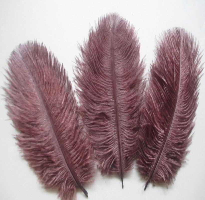 도매 500 개/몫 갈색 타조 깃털 15 20 cm 6 8 인치 웨딩 스테이지 장식-에서깃털부터 홈 & 가든 의  그룹 1