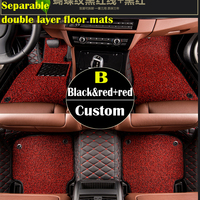 Double Layer Fabric Custom Fit Car Floor Mats For KIA K2 3 4 5 Kia Cerato