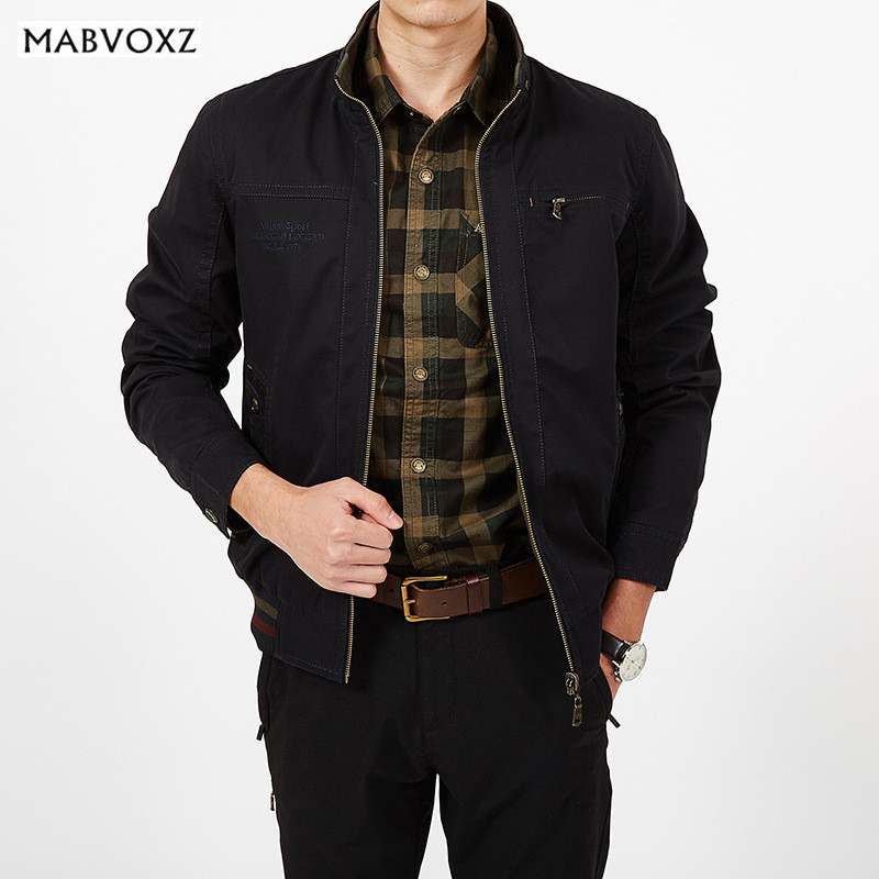 Reversible Men Jackets Loose Size 5XL New 2017 Autumn Winter Warm Cargo Military Coats Business Casual Brand AFSJEEP Healthy