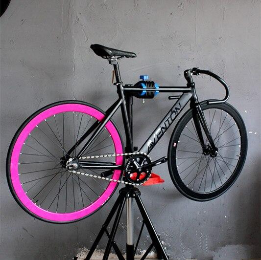 700c Bike Frame 52cm Aluminum Alloy Fixie Frame Carbon Fork Fixed