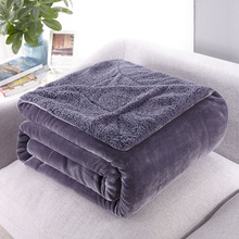 Thickened winter nap air Conditioning office blanket Pure Color Lamb blanket warm adult throws lid soft comfortable fluffy cover bedding flannel pure color blanket winter red warm sheets nap air conditioning office blanket coral velvet fluffy soft warm