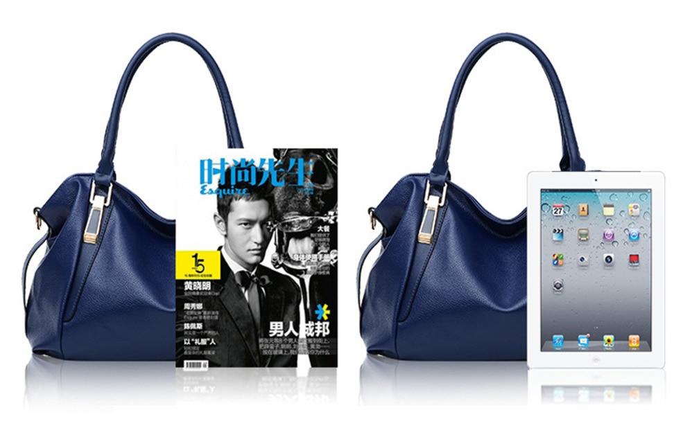 Hazy beauty Women Handbag Female PU Leather Bags Handbags Ladies Portable Shoulder Bag Office Ladies Hobos Bag Totes 64