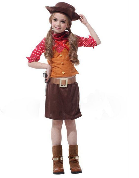 Free Shipping!!all Saints Party, Costume Party, Stage Performance Clothing, Pretty Naughty Cute Cowgirl Hot Sale 50-70% OFF