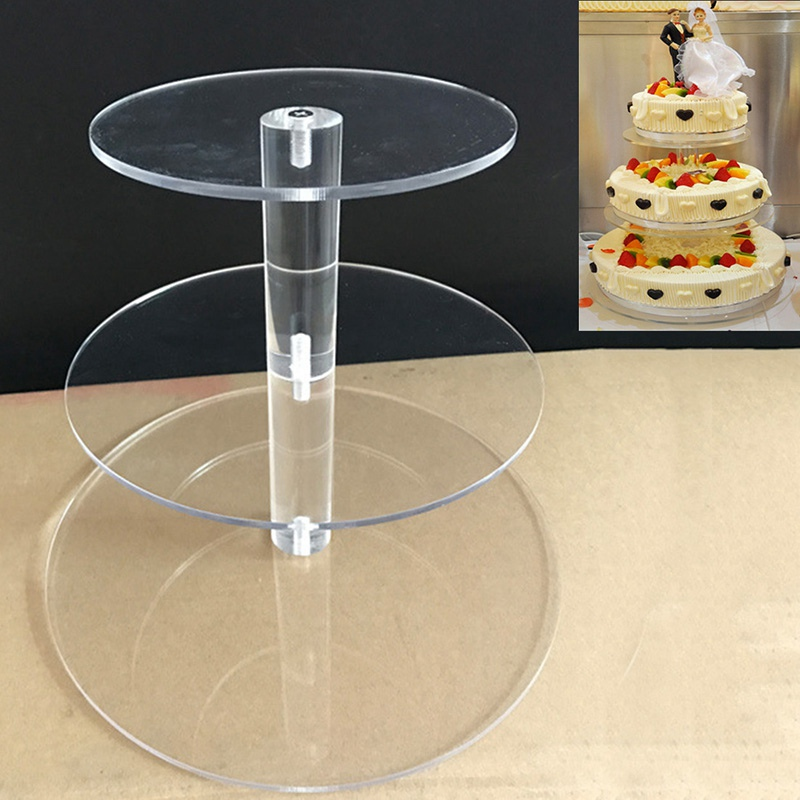 3/4 Tiers Cake Stand Cake Tools Birthday Party Wedding Cupcake Holder Dessert Display Rack Transparent Cake Stand