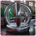 2.2m silver inflatable money machine Inflatable cash machine fashion design Inflatable grab money booth for advertising events