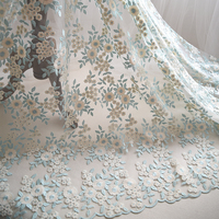 Two Color Embroidery Lace Fabric 4 Color Can Choose Tablecloths Curtains Diy Materials Wedding Accessories RS1148