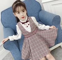 Newest 2019 Spring Autumn Baby Girls Clothes Sets Floral Blouse+TUTU Dress 2 PCS Kids Suits Infant Children Clothing Set HW2275