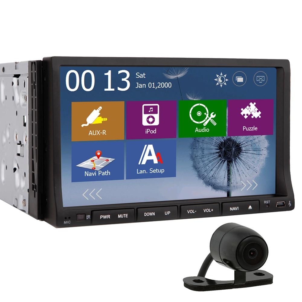 buy 2 din car dvd player windows ce 7 inch car radio gps navigation autoradio. Black Bedroom Furniture Sets. Home Design Ideas