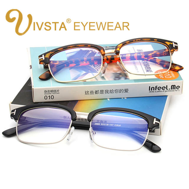 10853d4ff03 IVSTA TF 2995 Optical Frame Square Glasses Eyeglasses Frames Men Myopia  Blue Coating Computer Nerd Prescription