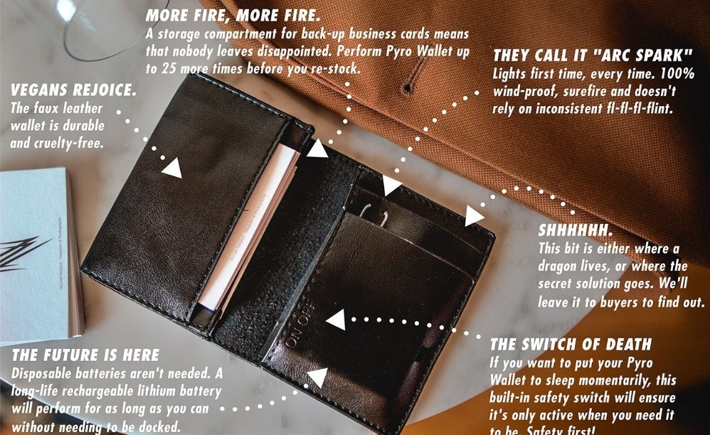 PYRO Wallet By Adam Wilber Magic Tricks