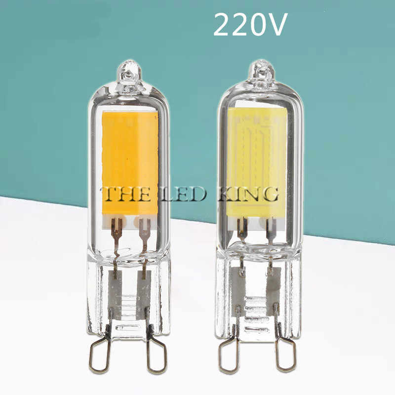 1Pcs Mini G9 LED Bulbs 9W 12W 360 Degree Clear Glass Body Led Light COB Crystal Lamp Replace 25W 45W Halogen Lamp Bulbs 220V