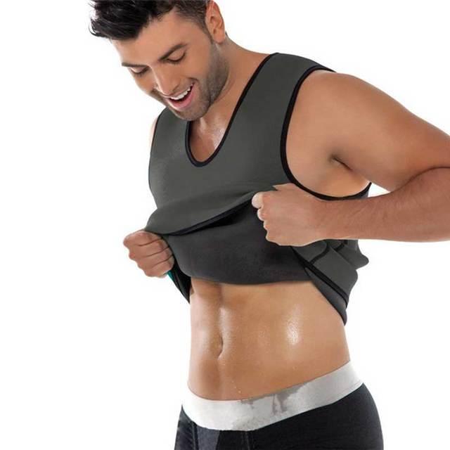 Men Shapers Ultra Sweat Thermal Muscle Shirt Neoprene Belly Slim Sheath Female Corset Abdomen Belt Shapewear Zip Tops Vest S3 1