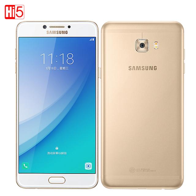 "Nueva original samsung galaxy c7 pro 4g + 64g teléfono inteligente huella digital octa core dual sim 5.7 ""3300 mAh 16MP 4G LTE Teléfono Móvil"