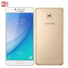 Samsung Galaxy C7 Pro 4 Г RAM 64 Г ROM Смартфон Отпечатков Пальцев Окта основные Dual SIM 5.7 «3300 мАч 16MP 4 Г LTE Мобильный Телефон
