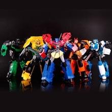Paduan Anime Plastik Transformation Robot Aksi Tokoh Toys Robot Kelas Mobil Keren Brinquedos Model Anak Laki-laki Mainan Hadiah Natal