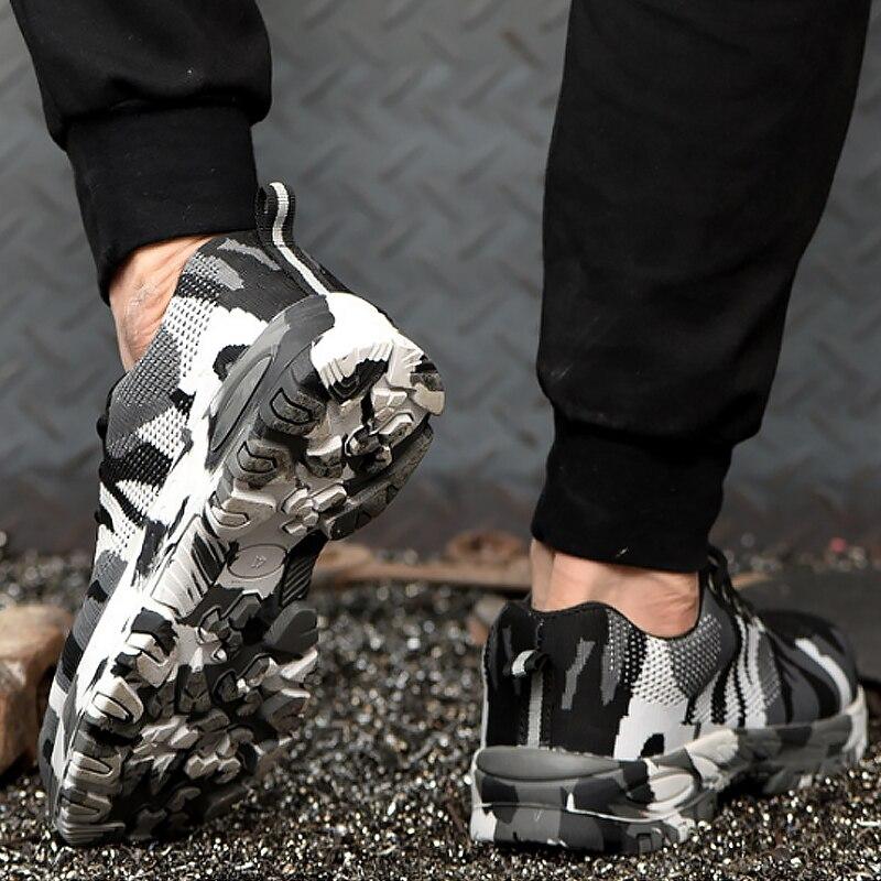 גברים של נעלי ספורט אנטי לנפץ אנטי פירסינג רדוד לגפר נעלי גדול גודל 5.5-12.5 רשת פלטפורמת סניקרס עבור גברים