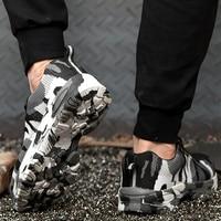 Men's sneakers anti smashing anti piercing shallow vulcanize shoes big size 5.5 12.5 mesh platform sneakers for men