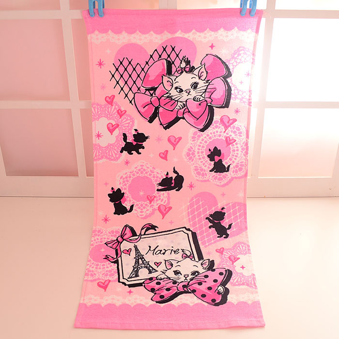 Cute Mickey Minnie Friends Mary Cat Baby Handkerchief Pink Printed Towel Girls Kids Gifts Portable Cotton Towels 35*75CM hanky pink floral towels