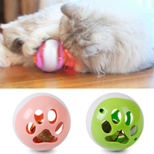 Cat Interactive Hollow Bell Ball Toy Creative Catnip LED Light Cat Exercise Ball Cat Bell Toy Cat Toy Pet Training Supplies