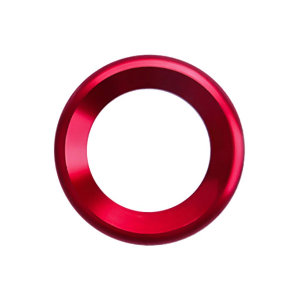 Украшения круг планки громкий динамик анодированный алюминиевый двери автомобиля аудио кольца динамиков планки для Honda Civic - Название цвета: Red