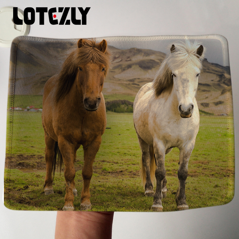 New Arrival Lceland Two Horses Style Mousepad Animal PC Computer Notebook Mousemat Durable Soft Rubber Gaming Mice Play Mat
