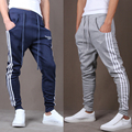 Mens Joggers 2017 Pantalon Homme Men   Pants Mallas Hombre  Lacing  Sweatpants Jogger Pantalones XXL US110