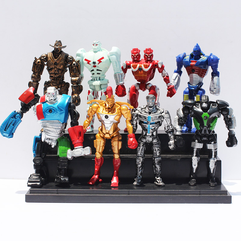Image 1 - 8pcs/lot 12cm Real Steel Toys Atom Ambush Zeus Metro Twin Cities Noisy Boy Action Toy Figures Collection Model-in Action & Toy Figures from Toys & Hobbies