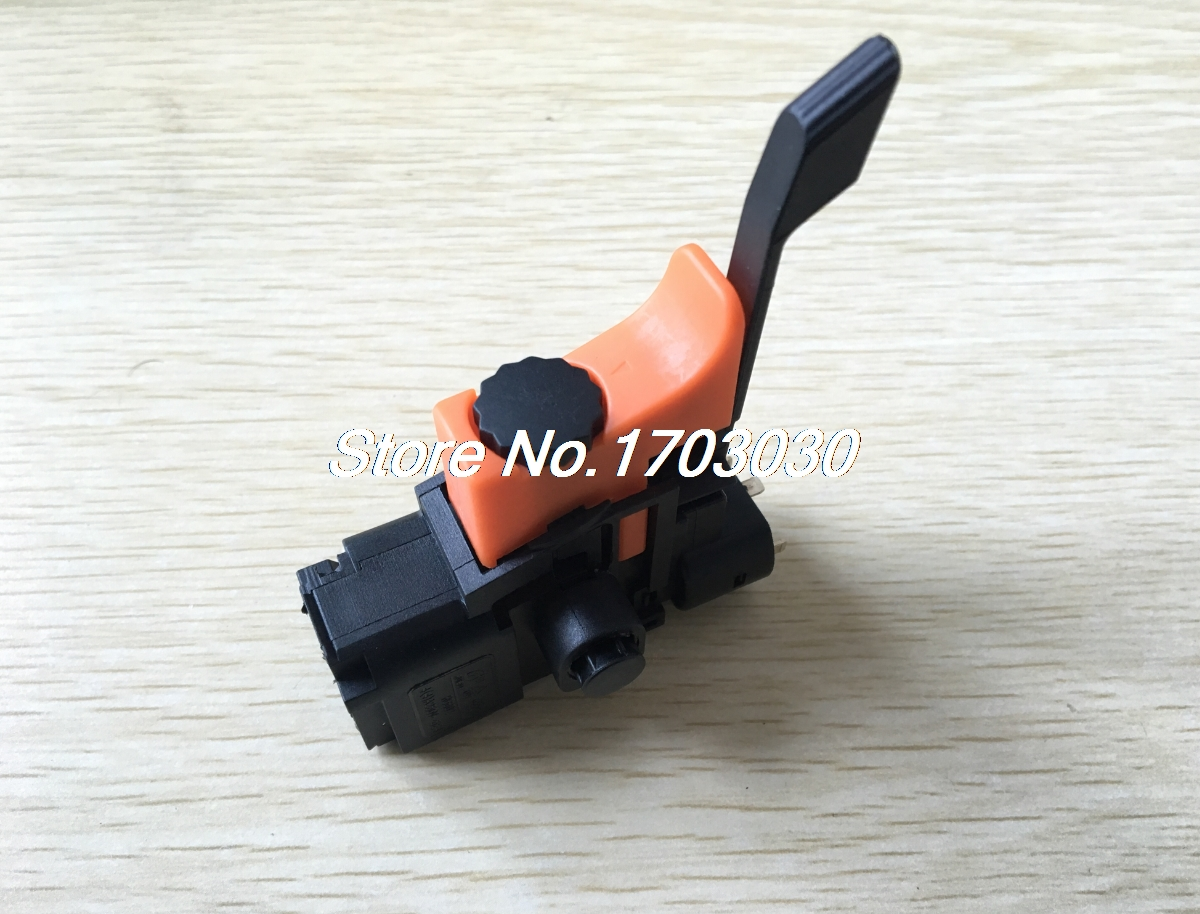 Electric Drill Power Tool Manual Operation Latching Speed Control Trigger Switch spno 5e4 lock on electric drill power tool trigger switch