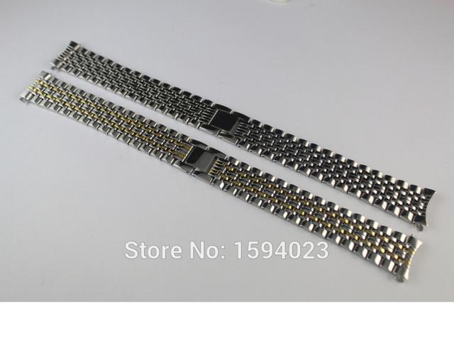 18mm NUEVO T52 T57 men Watch Band T870/970 banda de Acero Inoxidable Pulsera Sólida