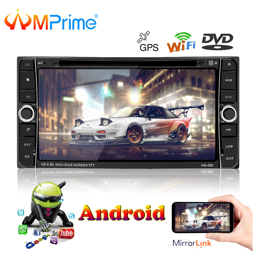 Amprime 7 ''2 Din Автомобильный мультимедийный плеер Android 2Din автомобиля радио Центральный Мультимедиа для Toyota Corolla automagnitol dvd-плеер