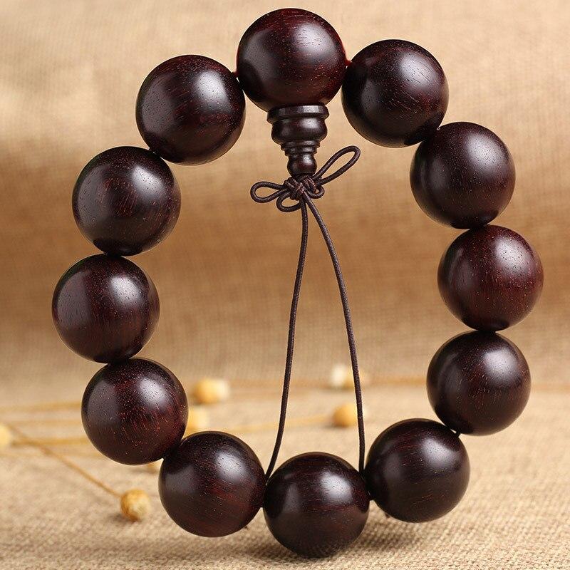 Feng shuiNatural palissandre haute densité étoile-portant perles végétales poli à la main haute huile perles en bois pour le remplacement des cheveux