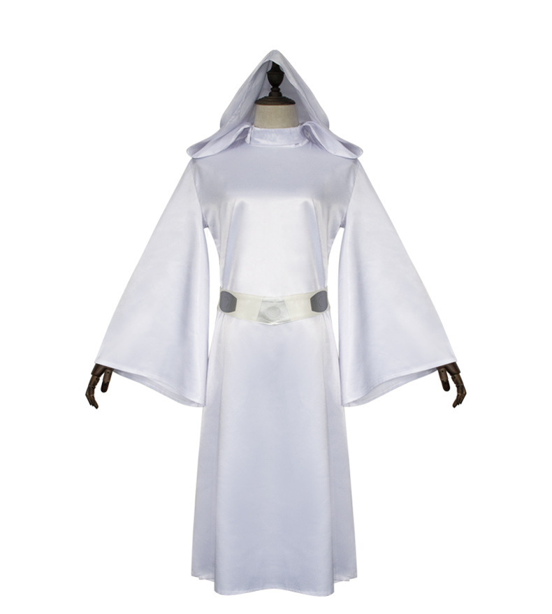 Ladies Womens Halloween Adult Princess Leia Star Wars Fancy Dress Costume Decor