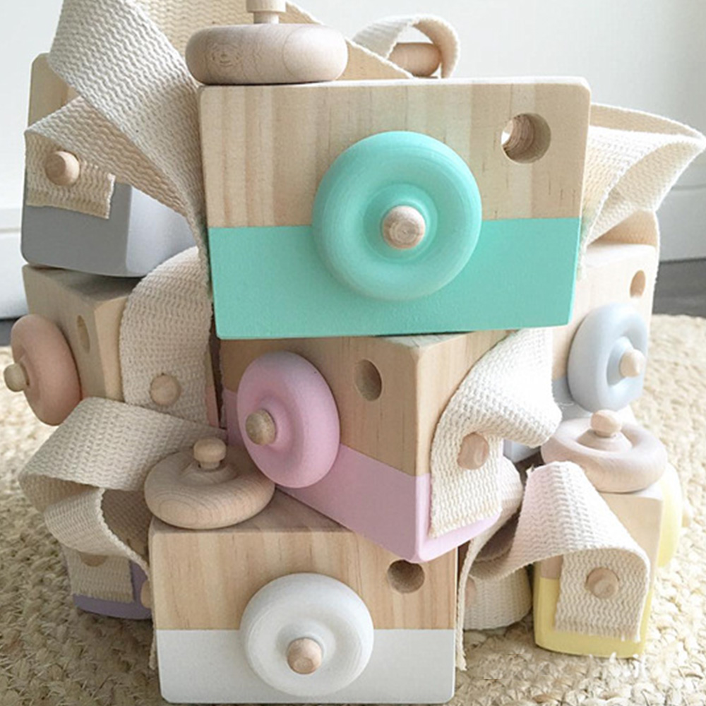Mini camera Wood Camera children Toys Safe Natural Toys ...