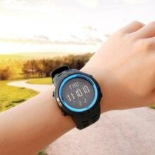 1cec1a50b3 Esportes homens Relógios de Contagem Regressiva Tempo Duplo Relógio de  Alarme Chrono relógios de Pulso Digitais