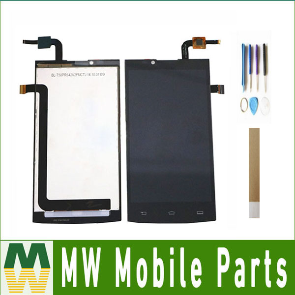 For Philips Xenium S398 LCD Display Touch Screen Sensor Glass Assembly Black Color With tools& tape