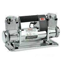 Field 12v heavy Duty Car Air Pump Air Compressor Full Metal Double Cylinder
