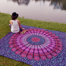 Индийский коврик с мандалой в стиле хиппи домашний декор на стену Богемия пляжный коврик для йоги Покрывало Скатерть 210x148 см