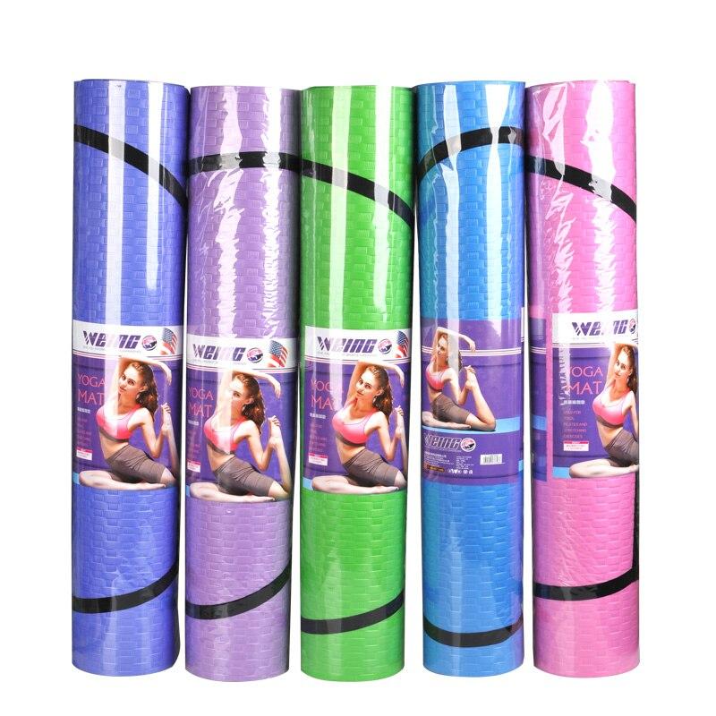 ①  Продукт WEING- WY48 Коврик для йоги 5 цветов Материал PE Нескользящая подушка для фитнеса Легкий и т ✔
