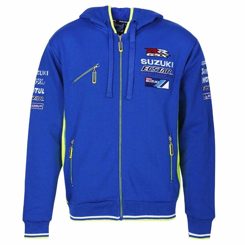 3ba338791 mens motorcycle hoodie racing moto riding hoody clothing suzuki jacket men  jackets cross Zip jersey sweatshirts coat camiseta