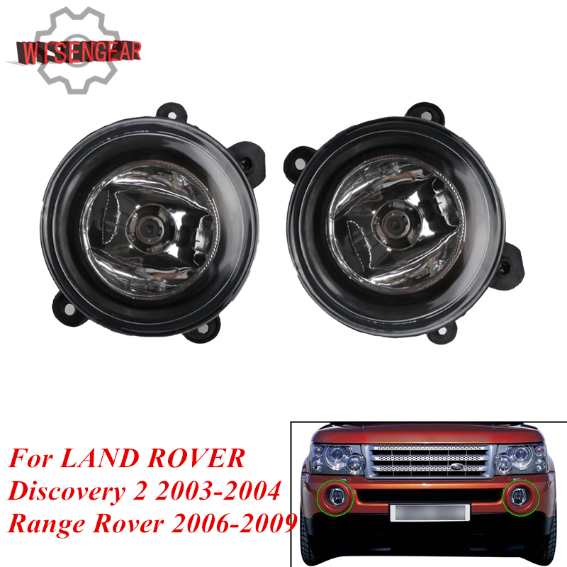 Left +Righ Car Front Fog Light For Land Rover LR Discovery 2 LR3 Range Rover Sport OEM XBJ000080 + XBJ000090 Auto Fog Lamp PD605 подвеска компрессор насос oem крышка для land rover lr044026 lr044027