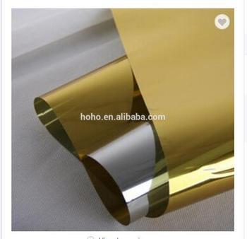 Film Plastico Per Finestre | VLT14 % Architettonica Finestra Pellicola Solare Oro Argento Effetto Specchio 1.52 M X 20 M