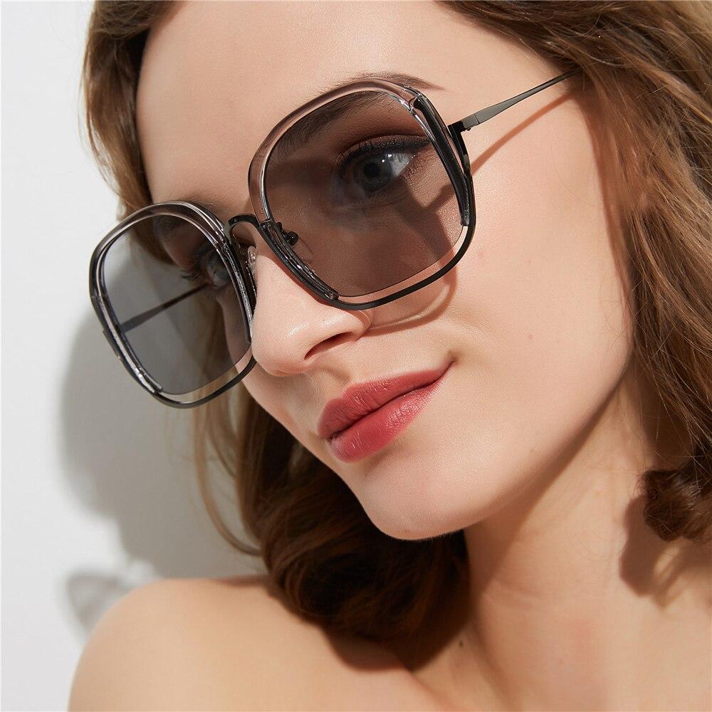 PAWXFB 2019 Round Sunglasses women Fashion Accessories Female Big Frame Sun Glasses