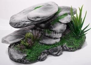 Image 2 - Mr.Tank Large Mountain View Reptile Rockery Decorations Artificial Aquarium Stone Cave Tree Turtoises Climbing Terrace Table